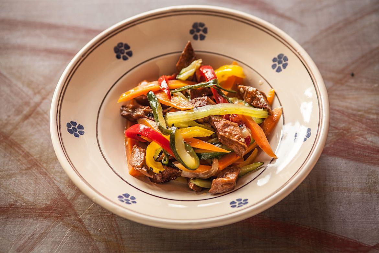 Lamelle di Verdura con Tofu Piccante